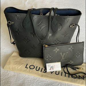 NEW Louis Vuitton Neverfull MM Empriente Noir